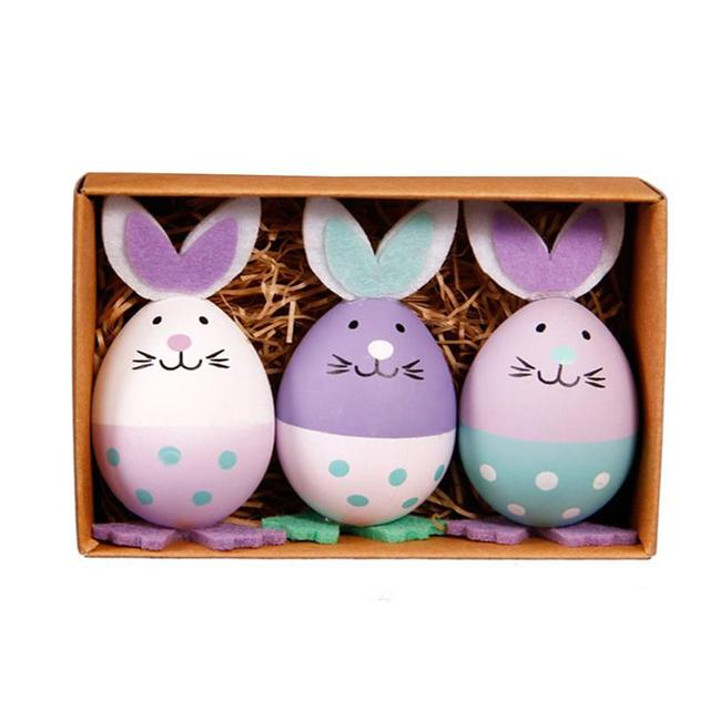 Aliexpress Com Buy 3pcs Plastic Rabbit Egg Diy Easter Egg