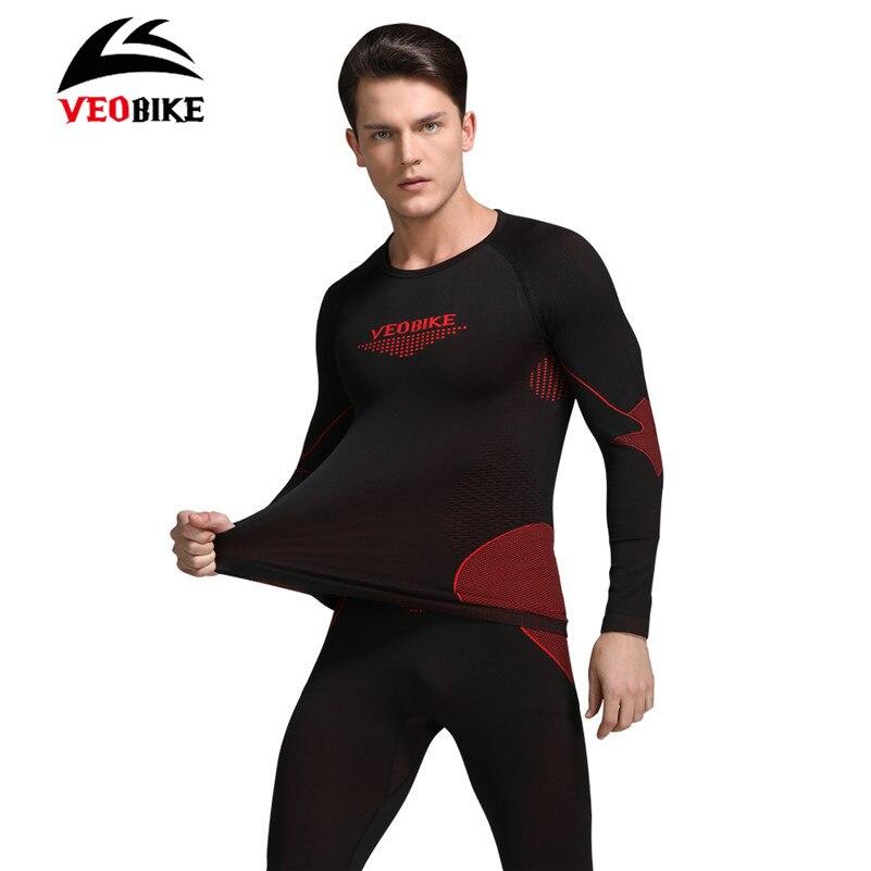 VEOBIKE Cycling Winter Warm Thermal Underwear Long Sleeve Breathable Windproof Tight Jerseys Sportswear Sets Cycling Base Layers вешалка костюмная напольная деревянная купить самара