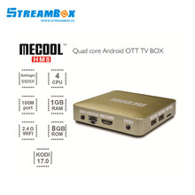 in stock android HM8 free 1year/12 months iptv server set top box Amlogic s905x 1G/8G media player