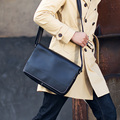 LAN men's leather crossbody bag single shoulder bag fashion concise leather messenger bag