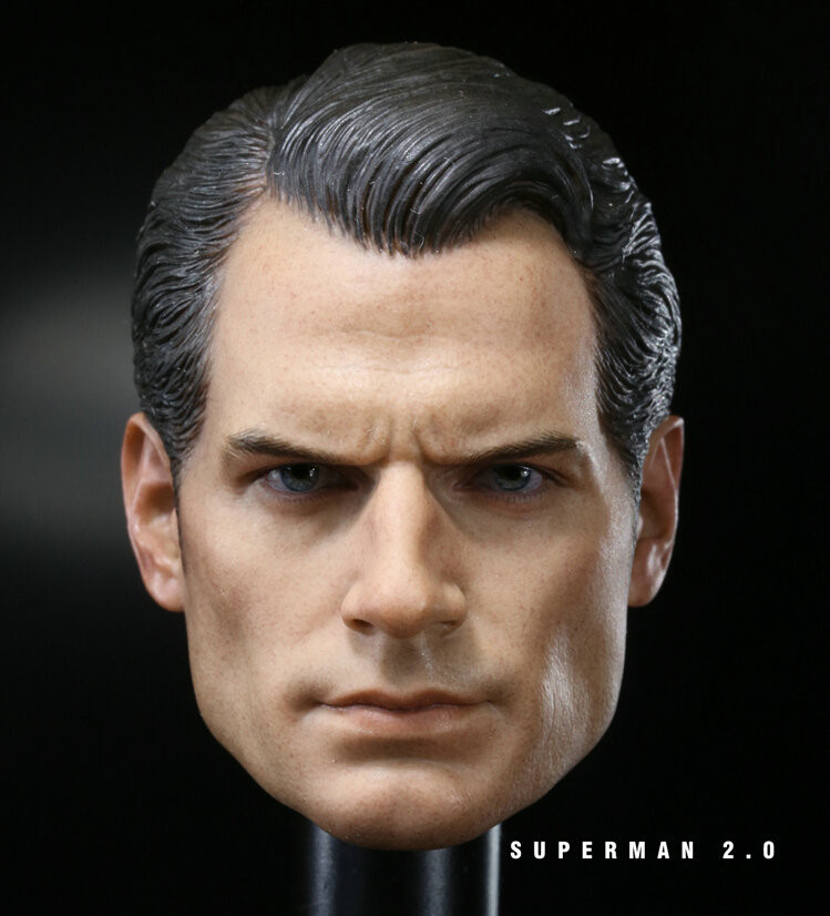 "Custom 1/6 Scale Henry Cavill Batman V Superman 2 Head Sculpt For Hot Toys Body For 12"" Action Figure Doll Toys Soldier Model"
