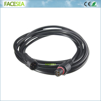 100pcs 2m 6.56ft 4 pin LED Strip Connector Male & Female Waterproof Extension Cable + 50pcs 1 male to 2 female 4pin splitter