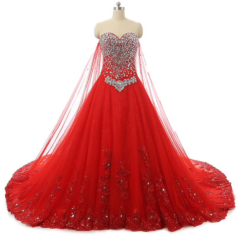 Top Luxury Wedding Dress : New bandage tube top crystal lace sweetheart luxury