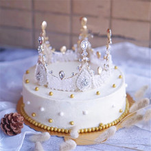 women crown cupcake toppers girls children birthday cake decorating supplies princess topper