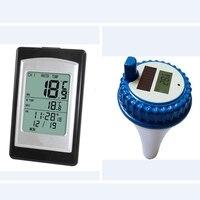 Беспроводной термометр для бассейна на солнечных батареях, водостойкий цифровой датчик температуры с ЖК-подсветкой