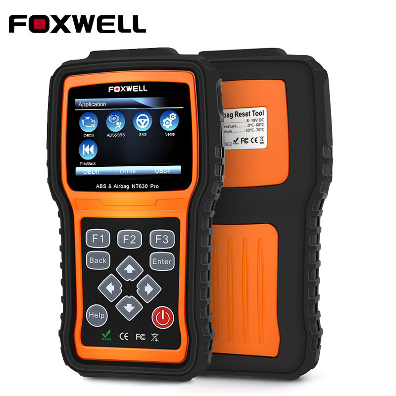 FOXWELL NT630 Pro OBD2 Car Diagnostic Scanner Engine ABS Airbag SRS SAS Crash Data Reset OBD 2 Auto Code Reader Scanner Tool