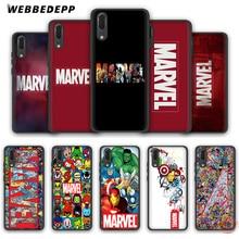 WEBBEDEPP Luxury Marvel Comics logo Soft Case for Huawei P8 P9 P10 P20 P30