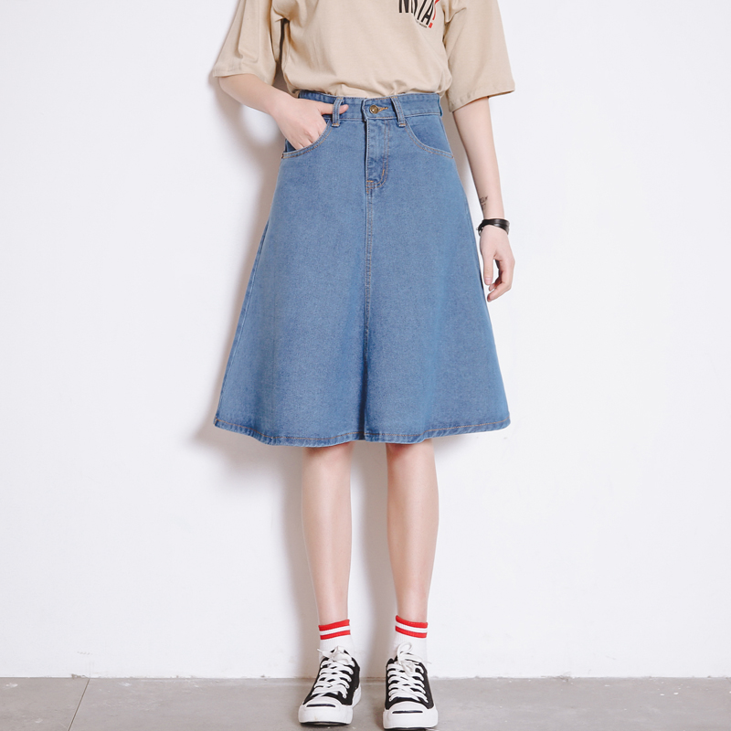 High Quality Jean Skirts Knee Length-Buy Cheap Jean Skirts Knee ...