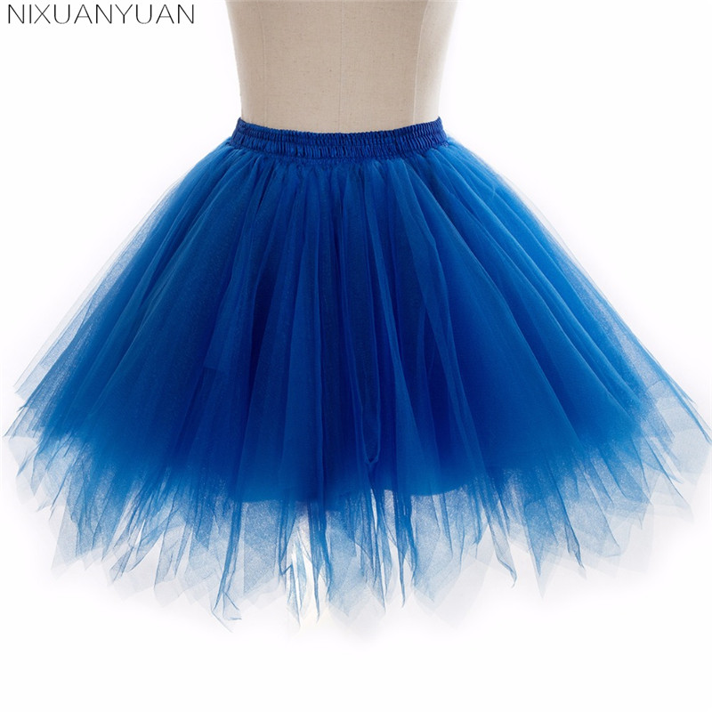 NIXUANYUAN In Stock Multi Colored Short Petticoat Tulle Crinoline 2020 Hot Sale Underskirt For Girl Cheap Wedding Accessories