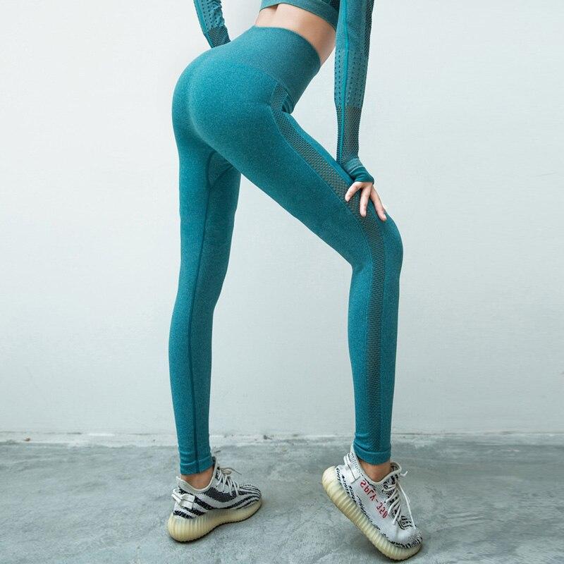High waist seamless leggings sport women fitness yoga legging thick fabric gym legging workout sport leggings athletic tights 4
