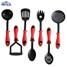 7 шт./компл. нейлон антипригарной термостойкая посуда набор бытовой Кухня для готовки поварские инструменты посуда гаджеты красный/G