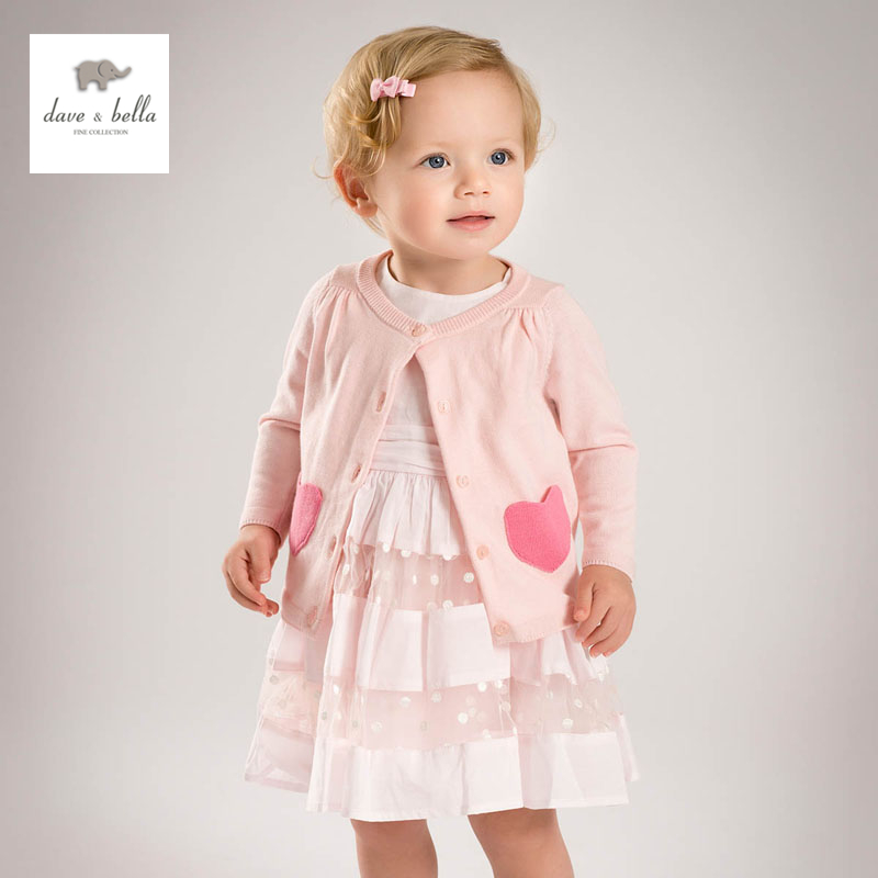 DB4459 dave bella spring baby girls pink cardigan girls thin knitted cardigan sweater db4916 dave bella spring fall baby girls navy striped sweater boys navy star embroidery sweaters stylish sweater