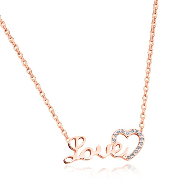 Fashion Jewelry Rose Gold Color Stainless Steel Collarbone Chain
