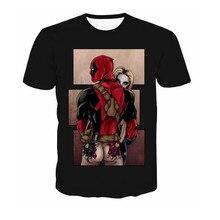 Comic Marvel Avengers T Shirt Men Superhero Captain America Spider Man Iron Man Tshirt  Summer Novelty Deadpool Tee Shirts