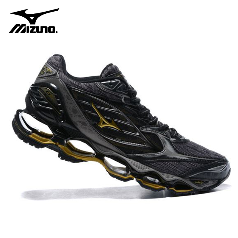 2018 Original Mizuno Wave Prophecy 6 Men Shoes Air Cushioning Sneakers Breathable Mesh Weight lifting Shoes Size 40-45 2017 zoom air running shoes men light weight mesh material dmx sport shoes men eur size 40 45 free shipping