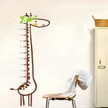 Freies Verschiffen Neue Abnehmbare Giraffe Scherzt Wachstum-diagramm-höhen-maß Für Home/Kinderzimmer DIY Dekorative Wandaufkleber 57*156 CM