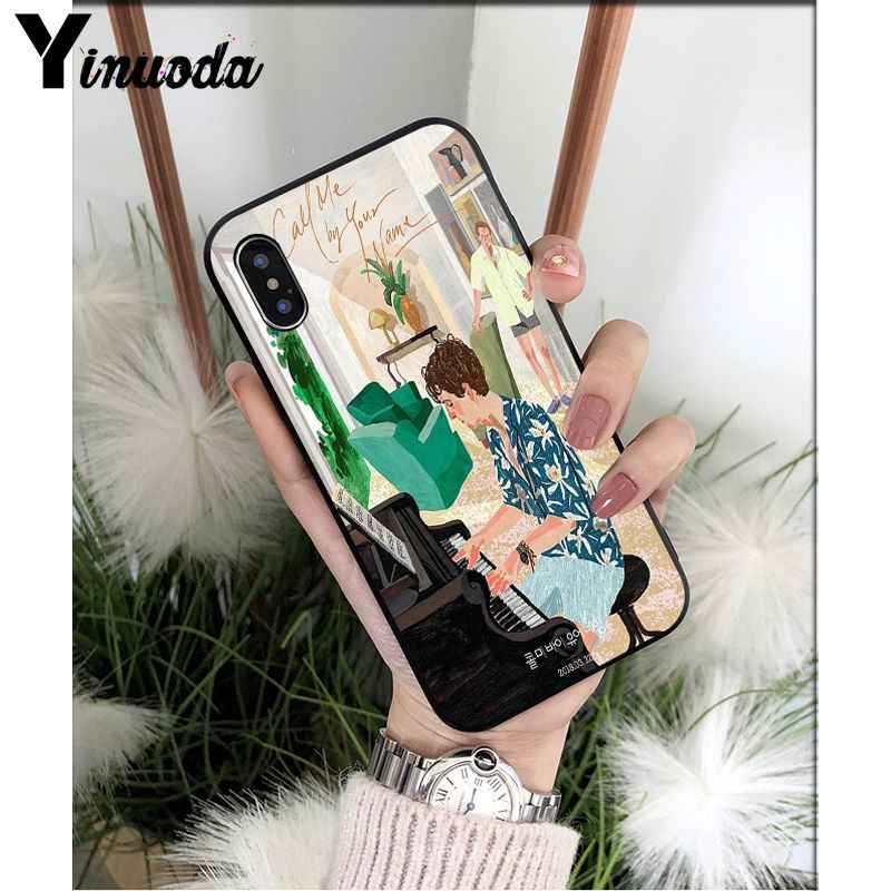Yinuoda Chiamata Mi da Il Vostro nome di Lusso Unico Copertura Del Telefono di Disegno per il iPhone 8 7 6 6S Plus 5 5S SE XR X XS MAX Coque Borsette