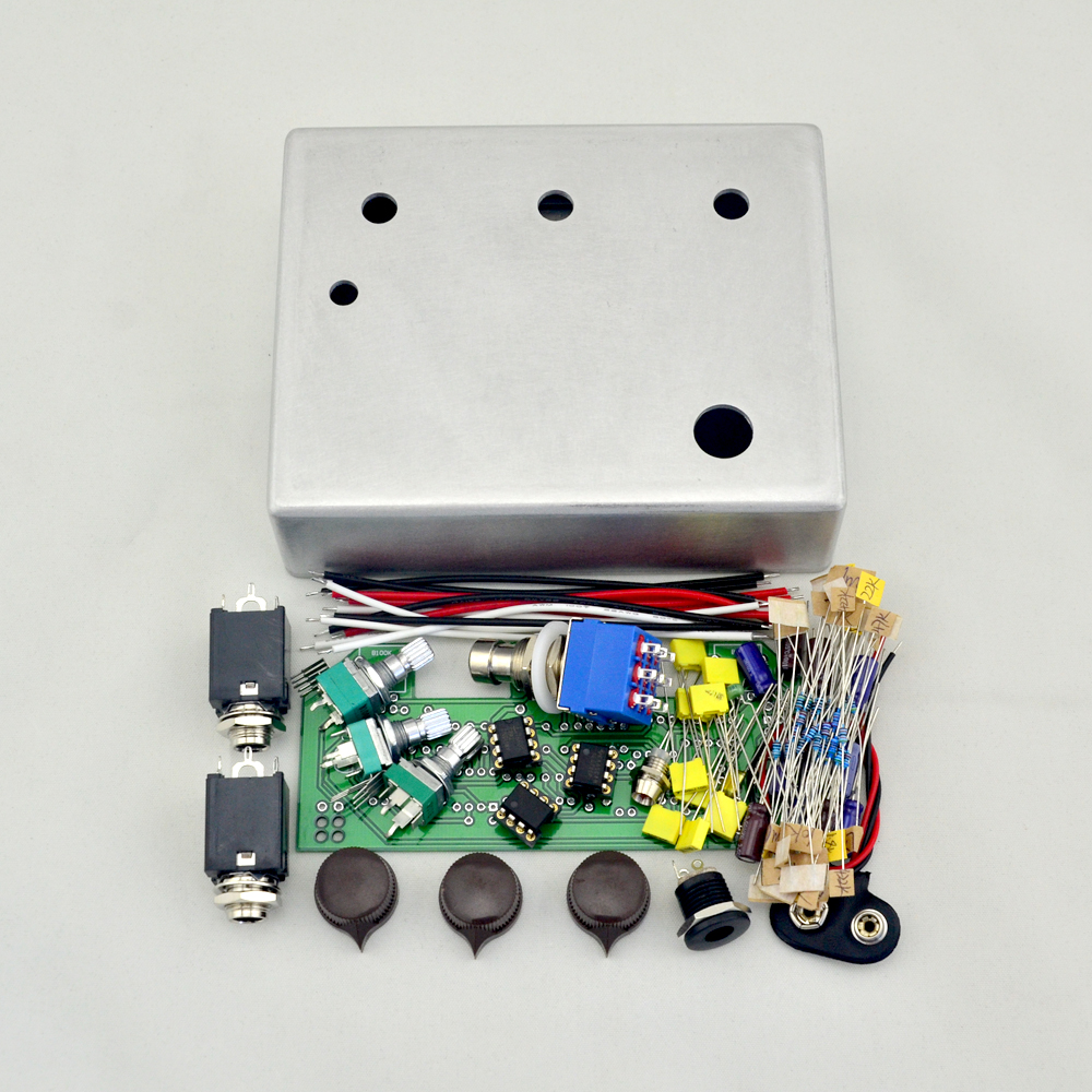 DIY Klon Centaure Overdrive pedal All Kits With 1590BB Aluminum Enclosure Box