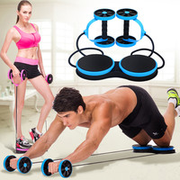 AB Roller Wheel Abdominal Double Muscle Trainer Power Wheel Gym Arm Training Bodybuilding Exercise Equipment Home Fitness