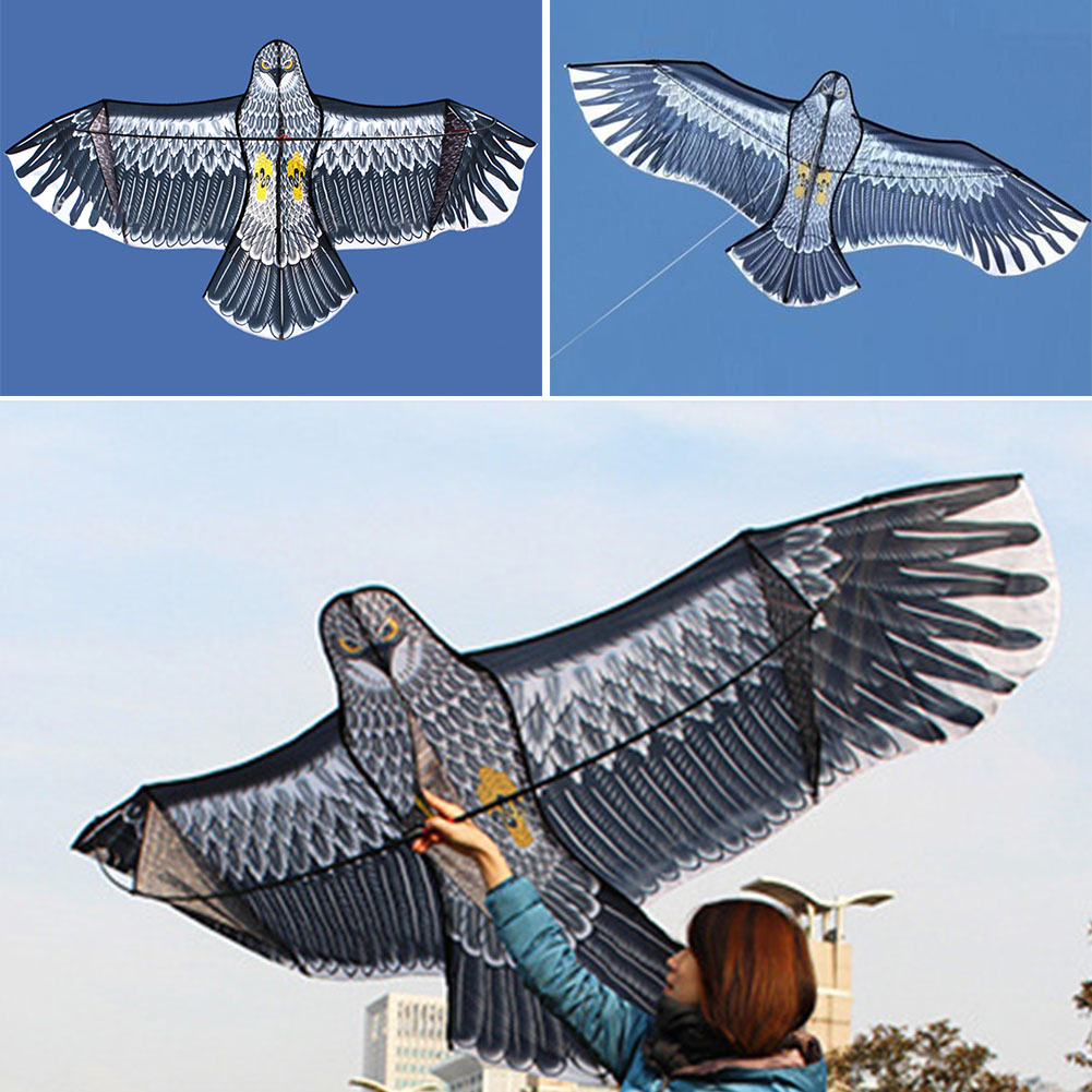 Outdoor Huge 1.5m Eagle Kite Single line Novelty Animal Kites Children's Activity Parent-child Toys Gift image