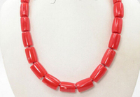 FREE SHIPPING>>@> A906 22mm column pink coral beads necklace