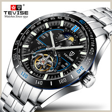TEVISE New Men Automatic Mechanical Fashion Top Brand Luxury Sport Watch Stainless Steel Watch Relogio Masculino men watch Clock new luxury top brand men watch steel hollow skeleton automatic mechanical watch male clock luminous sport business watch relogio