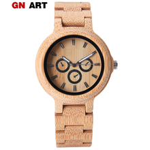 ELMERA Wood Watch Mens Clock Hour Pagan Design Watches 2018 Nightmare Before Christmas Band Wooden Bamboo