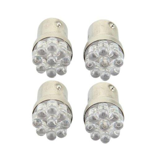 4 x 1157 BA15S 9 LED Car Park Light Brake LED Light Flasher Taillight red 12V