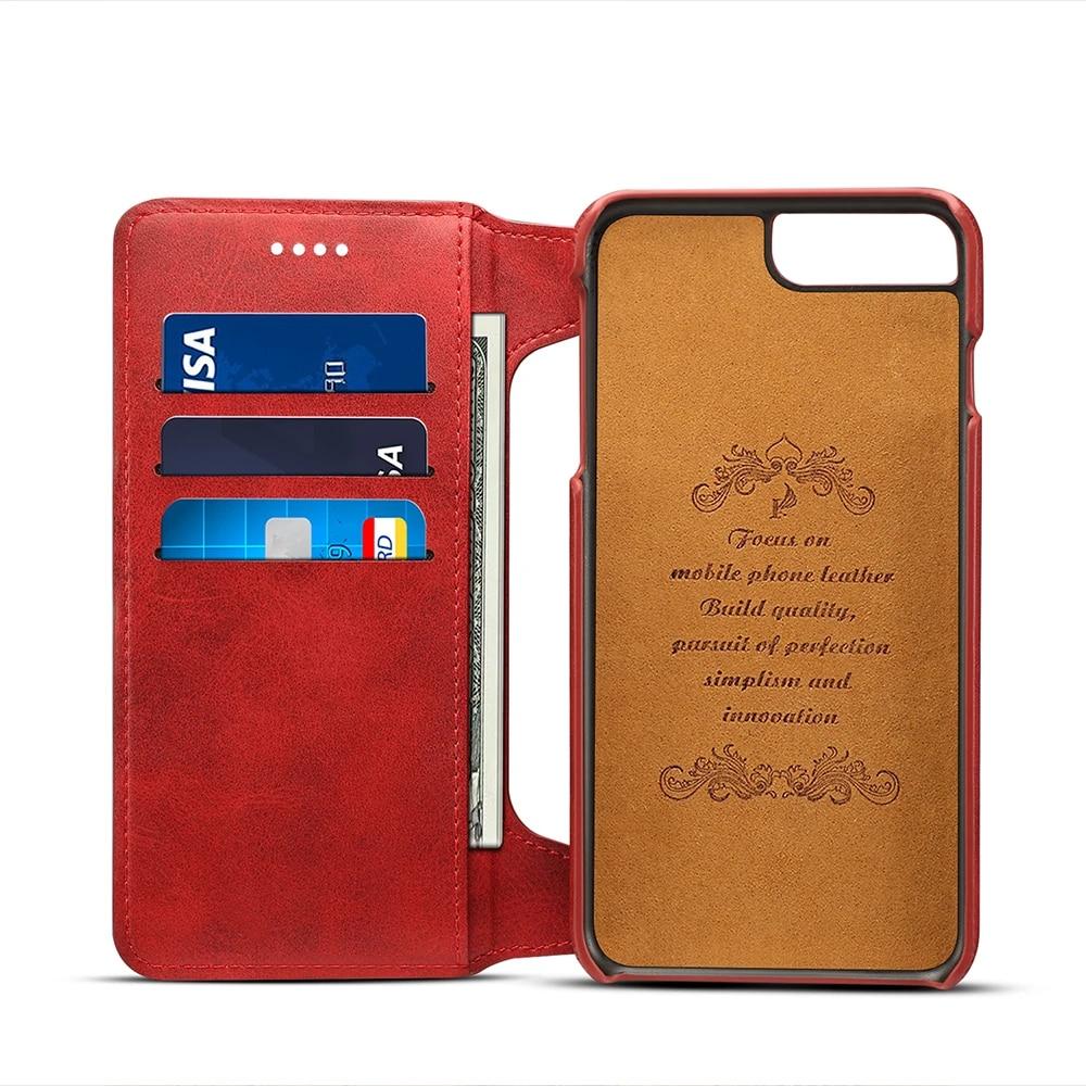 Pour iPhone 6 Plus étui portefeuille en cuir et Silicone étui iPhone 7 Plus avec porte-carte Coque Flip pour iPhone8P