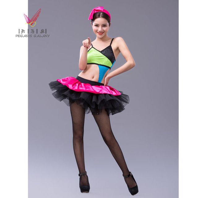439c837a0f89 Sexy Sequins Bikini Style Ballet Dress Rainbow Ballet Dance Costume ...