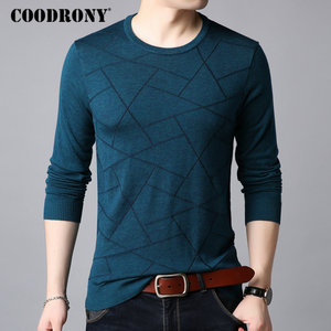 Image 3 - COODRONY Wool Sweater Men Casual O Neck Pull Homme Knitted Cotton Pullover Men 2018 Autumn Winter New Clothes Mens Sweaters B009