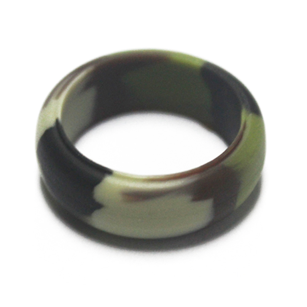1 Pcs 8mm Silicone Ring For Women/ Men Sport Ring Jewelry Gift Flexible Safe Finger Ring CX17