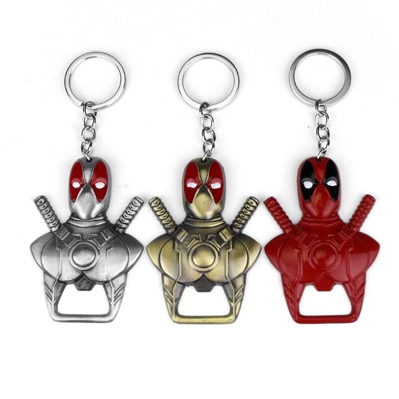 נוקמי Deadpool בקבוק פותחן Keychain מטבח בר גאדג 'ט נשים גברים תכשיטי 3 צבע לבחירה