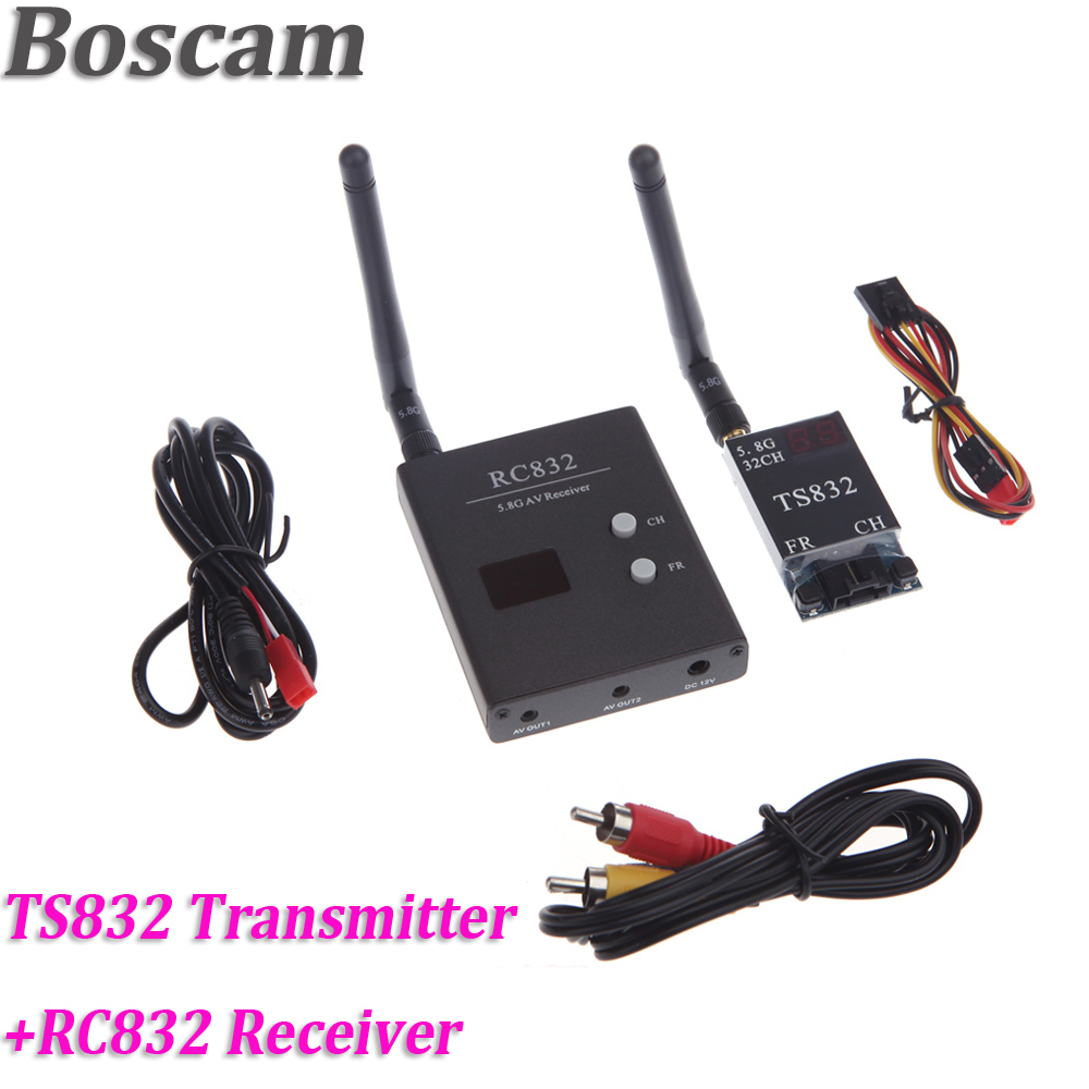 Boscam 32CH 5.8G 600mW Wireless AV FPV Transmitter TS832 + Receiver RC832 Modules Audio Video Transmitter and Receiver Set
