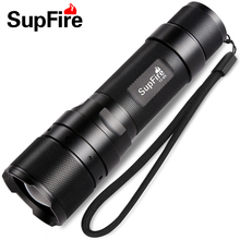 Supfire F3 Cree XPE 3W 3modes Led Flashlight 450 Lumens Tactical Single Torch by 18650 Battery Self Defense