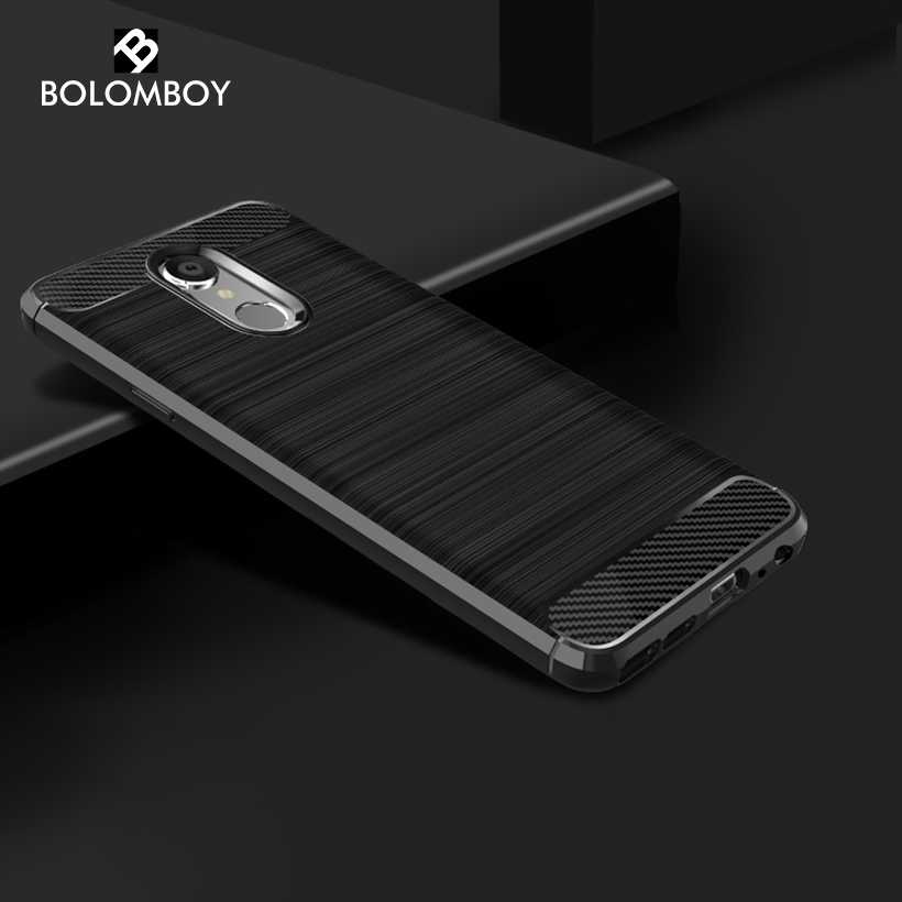 Bolomboy Carbon Fiber Case For LG Q Stylus Case Silicone Soft TPU Black Drawing Cases For LG Q Stylus Alpha Cover 6.2 inch