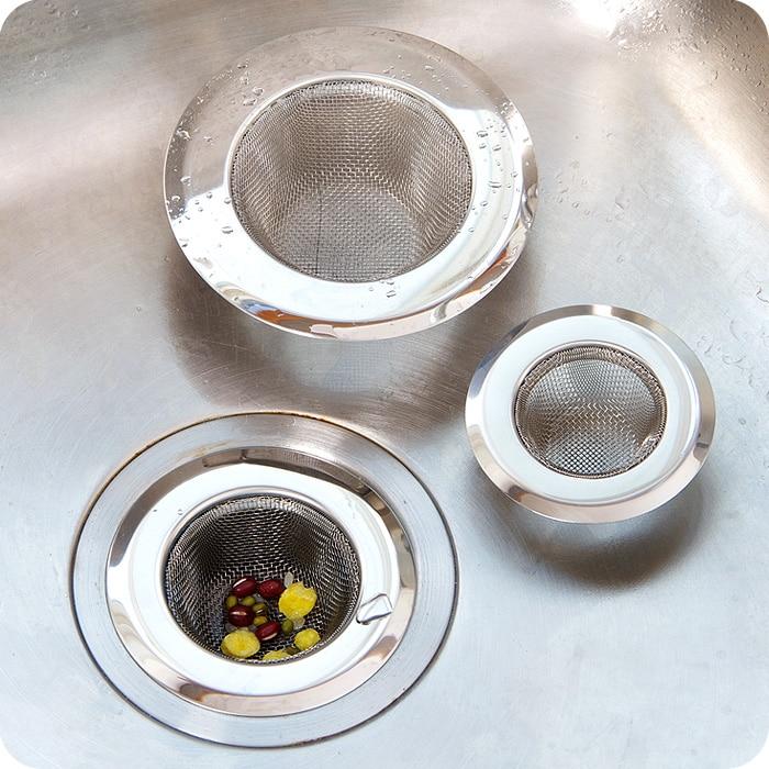 Stainless Steel Kitchen Sink Strainer Sink Filter Pool Anti Blockage Drain Filter Fur Hair Anti
