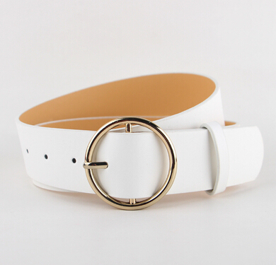 Newest Hot Sale fashion gold Buckle Female Leather Strap Belts for Women Ms. clothing Cummerbunds Ladies Fashion Girdles gifts 2