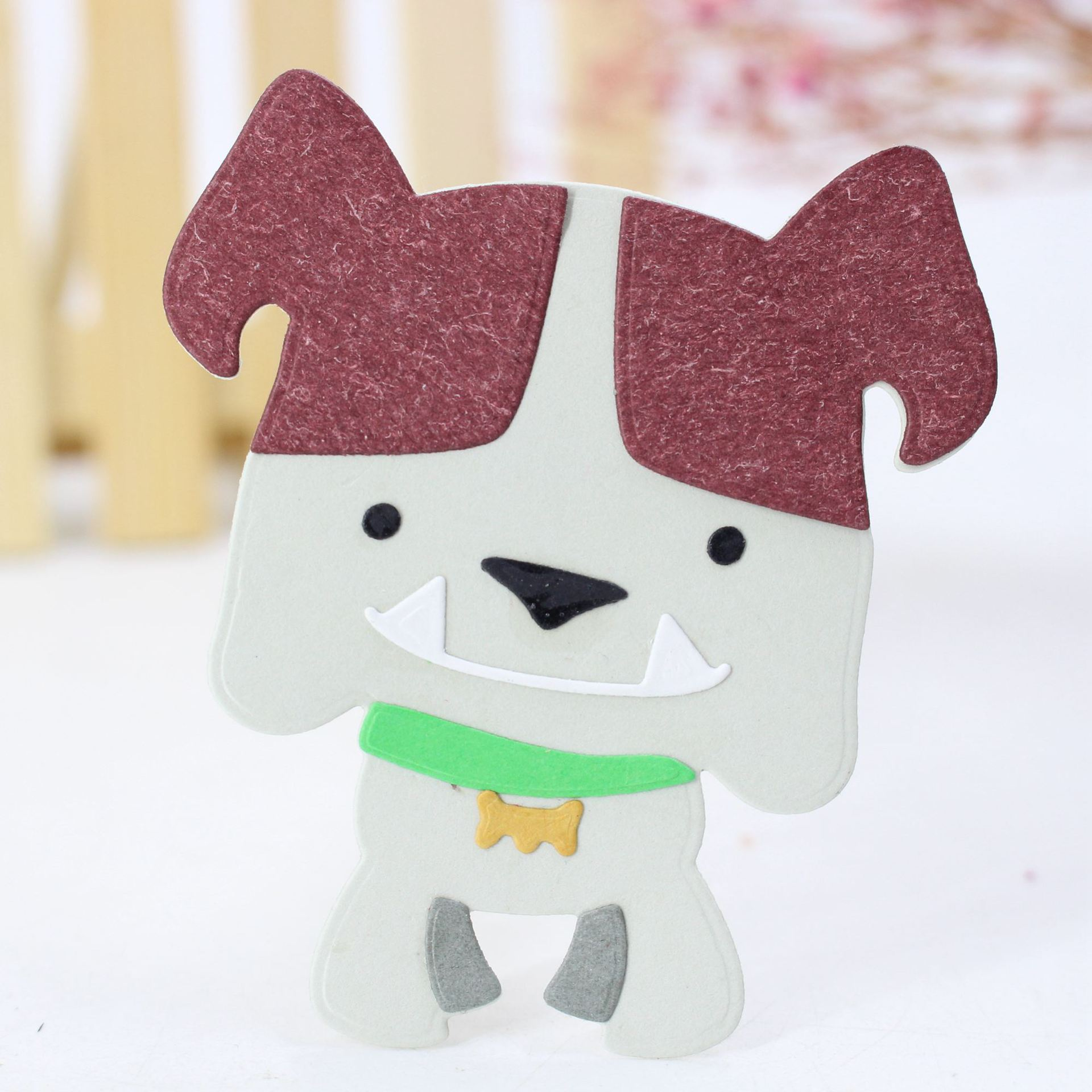AZSG Adorable Dog Cutting Dies For DIY Scrapbooking Card Making Decorative Metal Die Cutter Decoration