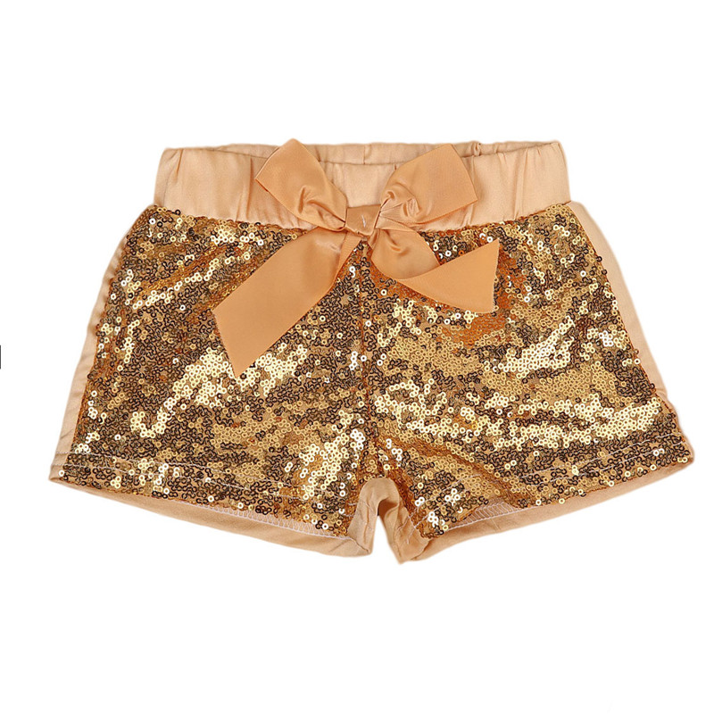 Baby Summer Sequin   Shorts   for Girl Birthday Outfit Sequin Girls Party   Shorts   Gold Pink piece Girl   Shorts   kids