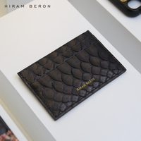 Hiram Beron CUSTOM NAME FREE Luxury Snake Skin Credit Card Case Men Wallet holiday gift dropship service