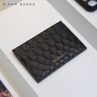 Hiram Beron CUSTOM NAME FREE Luxury Snake Skin Credit Card Case Men Wallet holiday gift dropship service Card & ID Holders    -