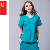 Hospital & Clinic & Pet Hospital Woman Doctor Wash Clothes Split Set Polyester Cotton Thin Design Female Scrub Set,102