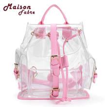 Хит продаж Для женщин Clear Пластик See Through безопасности прозрачный рюкзак сумка дорожная сумка Прямая поставка 0522
