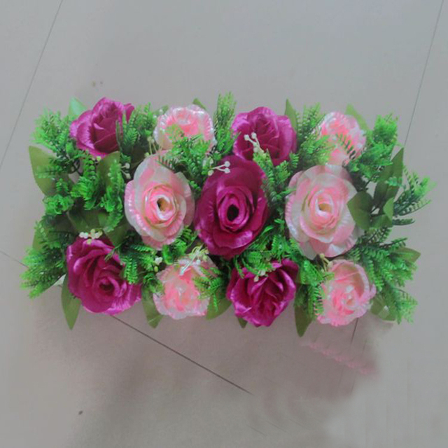 4PCS free shipping artificial rose silk flower DIY wedding arch ...