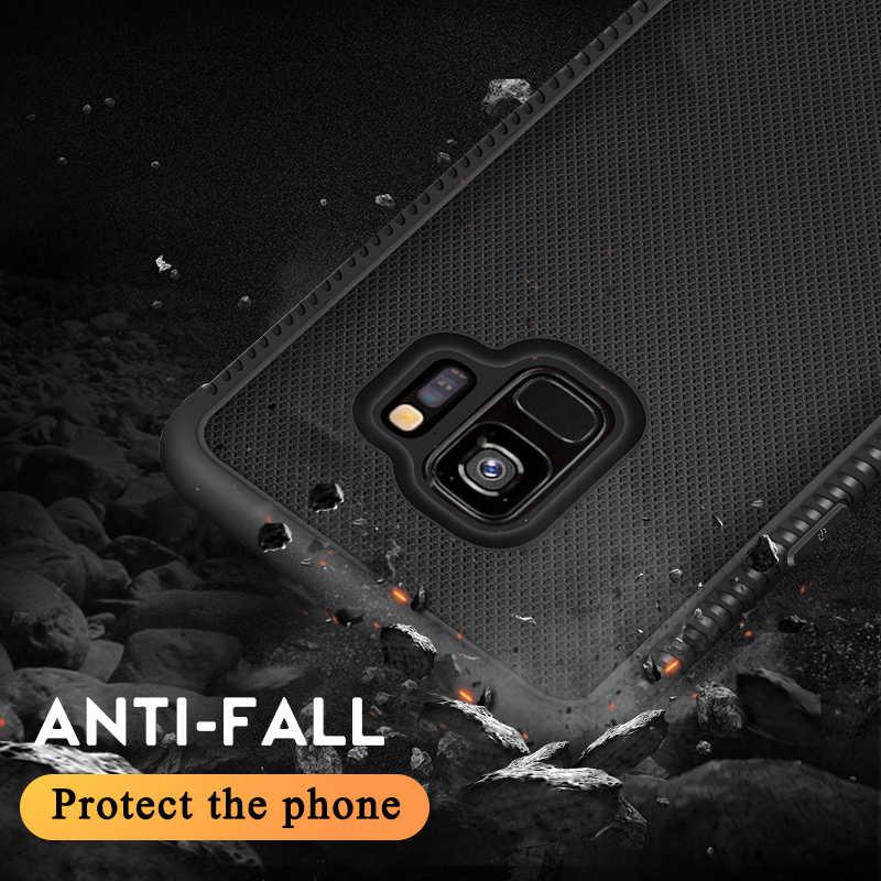 المضادة للسقوط الغطاء الخلفي حقيبة لهاتف سامسونج غالاكسي S9 S8 زائد عرض زاوية كاملة حقيبة لهاتف سامسونج S 9Plus 8 Plus صدمات
