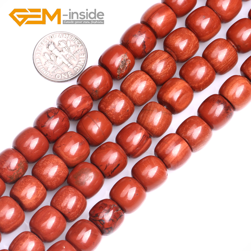 8X10MM Column Shape Natural Red jaspe r Beads Natural Stone Beads Loose Bead For Bracelet Making Strand 15 inches DIY !NEW