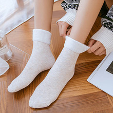 10 Pair Women Winter Lining Fleeced Thick Socks Casual Home Warm Floor Socks -MX8