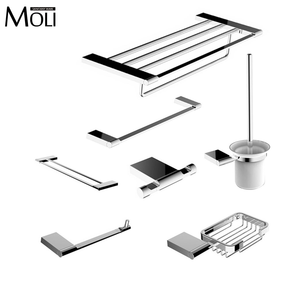 Contemporary Bathroom Hardware Accessories online get cheap brushed chrome bathroom accessories -aliexpress