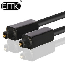 EMK Digital Optical Audio Cable Output Input Toslink 1m 2m 3m SPDIF Coaxial Cable for Blu-ray CD DVD Player Xbox 360 PS3 AV TV